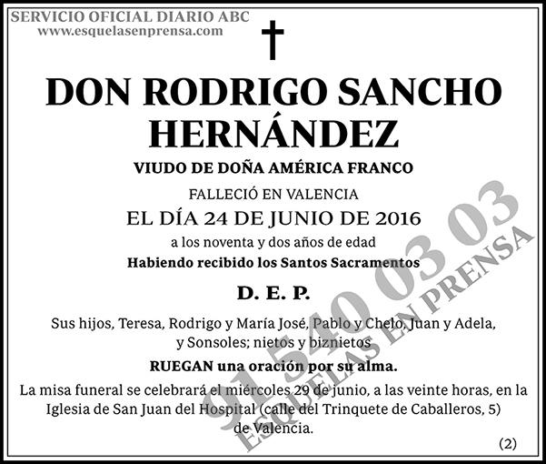 Rodrigo Sancho Hernández